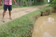 Uno de los puntos criticos en el río Sinú