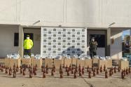 Fueron encontradas 12000 cajetillas de cigarrillo y 59 botellas de licor
