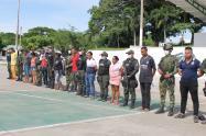 Capturados 18 presuntos integrantes del 'Clan del Golfo' en la Mojana Sucreña