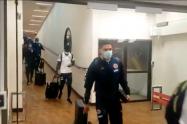 Colombia llegando al aeropuerto paraguayo
