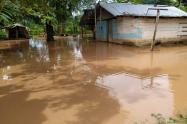 La vereda Campo Alegre es una de las más afectada por la creciente del río