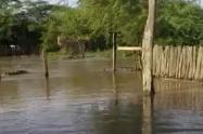 Desbordamiento de río Garupal  en la Vereda Sabanitas, Corregimiento de Los Vendados, Jurisdicción de Valledupar