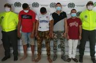 Los detenidos por presuntamente conformar la banda delincuencial los de la 18