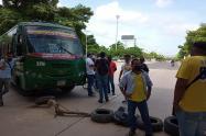Bloqueos de conductores en Barranquilla