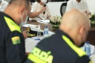 Mesa de seguridad en Cartagena