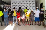 En operación 'Eliceo' Armada y Policía Nacional capturan a nueve presuntos integrantes del Clan del Golfo en Sucre