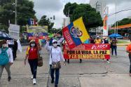 Más de 2000 personas se sumaron a jornadas de protestas en Barranquilla.