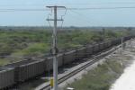 Vagones del ferrocarril en Magdalena