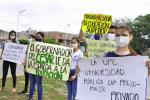 Estudiantes de la Universidad Popular del Cesar en las calles de Valledupar.