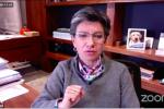 Claudia López en foro virtual