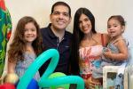 Peter Manjarrés y su familia