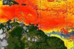Partículas de polvo del Sahara
