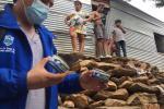 Un equipo técnico llegó hasta la vivienda de los afectados en el barrio el Pando
