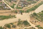 Municipio de Uribia afectado por el invierno.