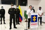 Rueda de prensa en Barranquilla.