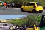 Taxista atropelló a Agente de Tránsito de Cartagena