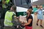 Las donaciones las hizo la Policía Metropolitana