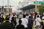 Batalla campal en protesta