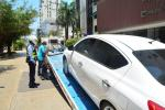 Operativos de gruas en Cartagena