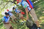 Recolección de basuras en complejos deportivos en Cartagena