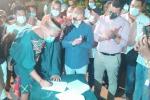 Firmaron acuerdos con el Gobierno Nacional y Departamental