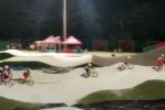 Competencia BMX en Barranquilla.
