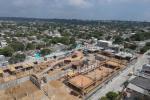 Vista aérea del megacolegio de Shakira en el barrio El Bosque