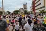 Manifestantes se tomaron calles del Centro Histórico de Cartagena