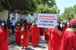 Mujeres indígenas se tomaron la calles de Riohacha