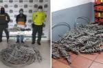 Le hallaron 65 metros de cableado avaluados en $6 millones