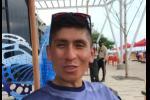 El ciclista colombiano, Nairo Quintana, esta en la ciudad por temas sociales con la Unicef.