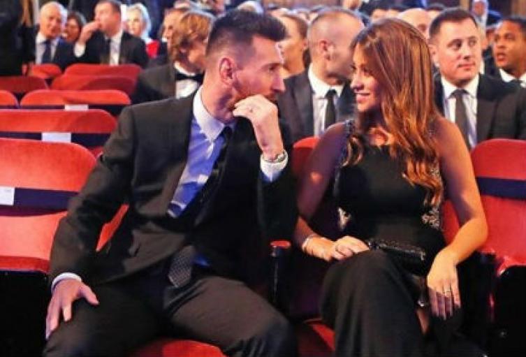 Messi y Antonela Roccuzzo.