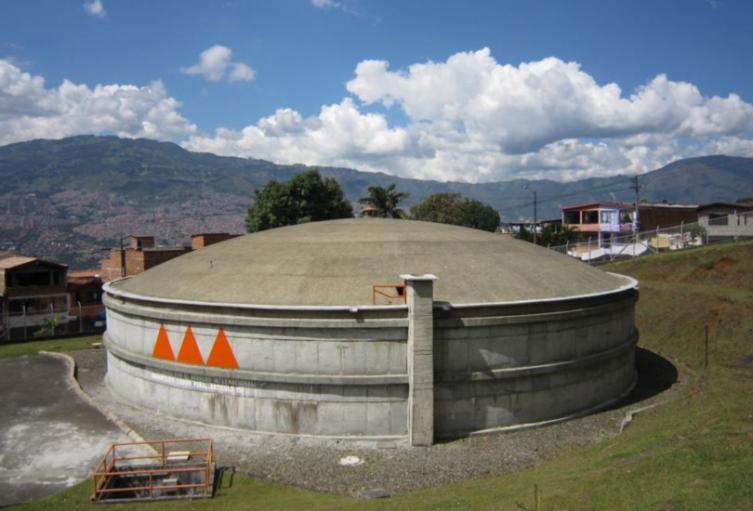 Tanques de agua de EPM en Medellín