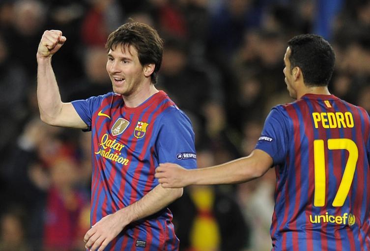 Messi marcó cinco goles en Champions ante el Leverkusen