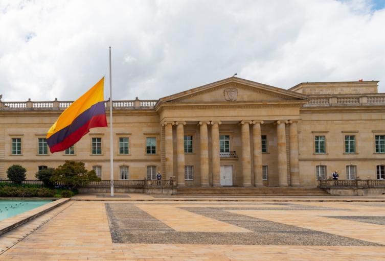 Bandera Colombia media asta Casa de Nariño