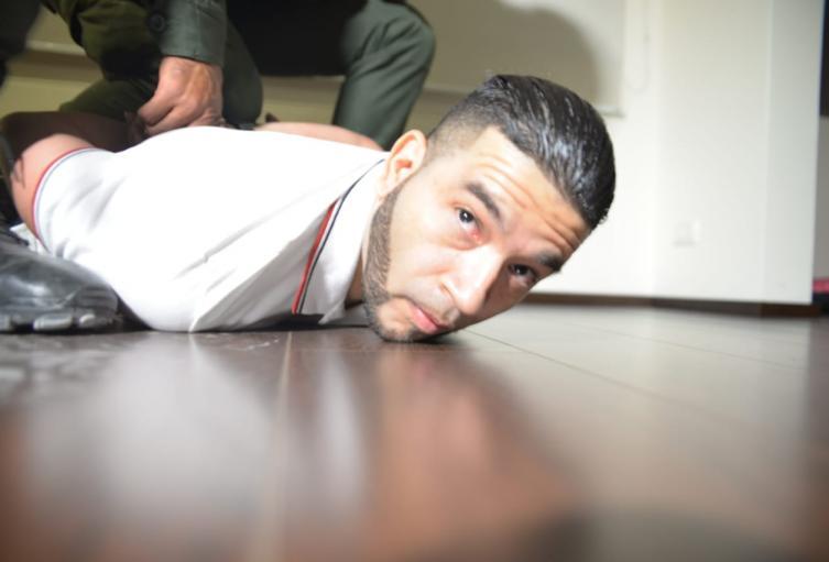 Momentos de la captura de alias Chicho
