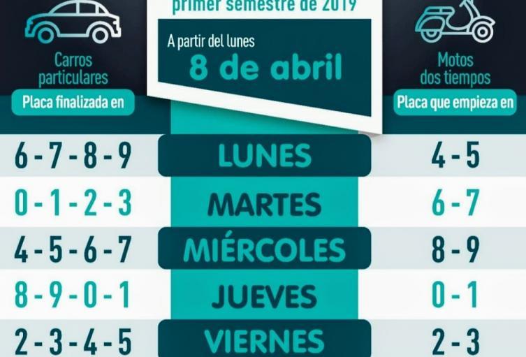 Este lunes regresa a la normalidad el pico y placa en Medellín
