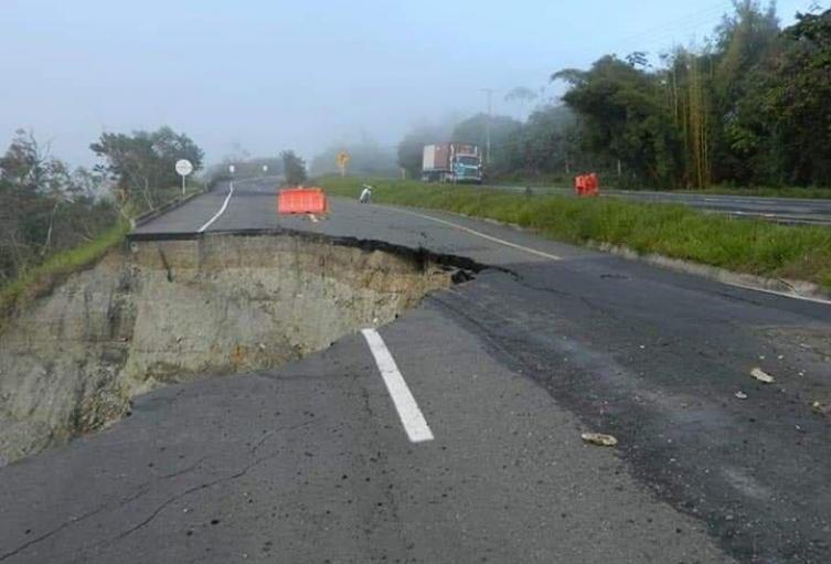 Se presenta una falla geológica