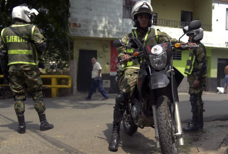 Patrullajes de las autoridades en Bello (Antioquia)