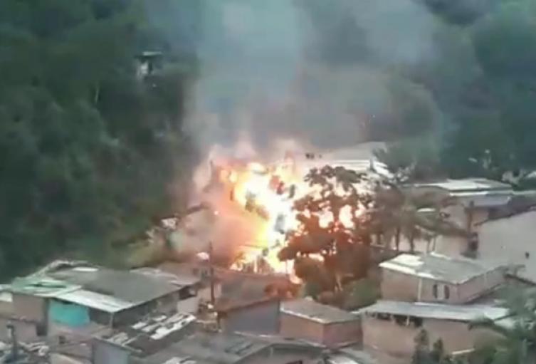 Una persona lesionada dejó explosión de empresa de gas en Caldas