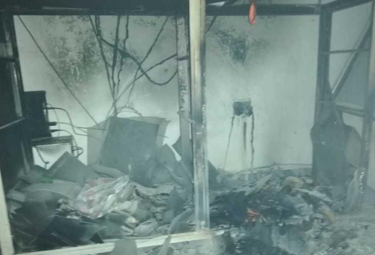 Incendio en una negocio en Bello.