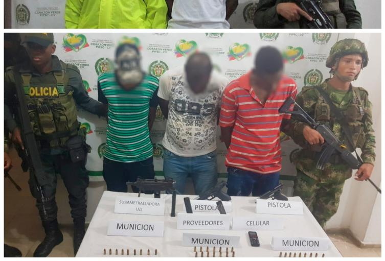 """Tres de las cuatro personas detenidas son una estructura criminal que desea desprenderse del """"Clan del Golfo""""."""