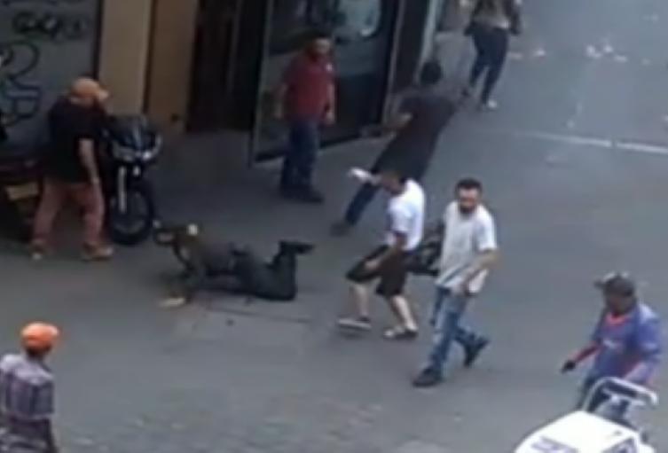 Una persona fue capturada tras la agresión a un policía, durante la manifestación de taxistas en Medellín