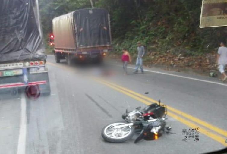 Dos jóvenes murieron en accidente de transito en San Luis, Antioquia