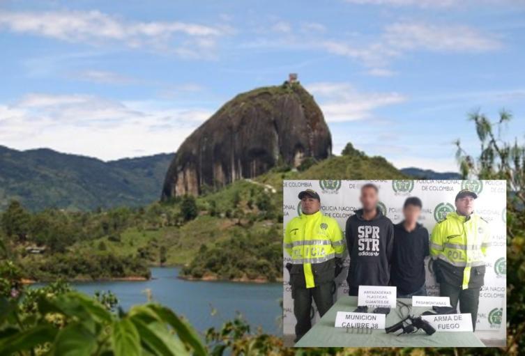 Capturan a dos presuntos ladrones en la Piedra de El Peñol