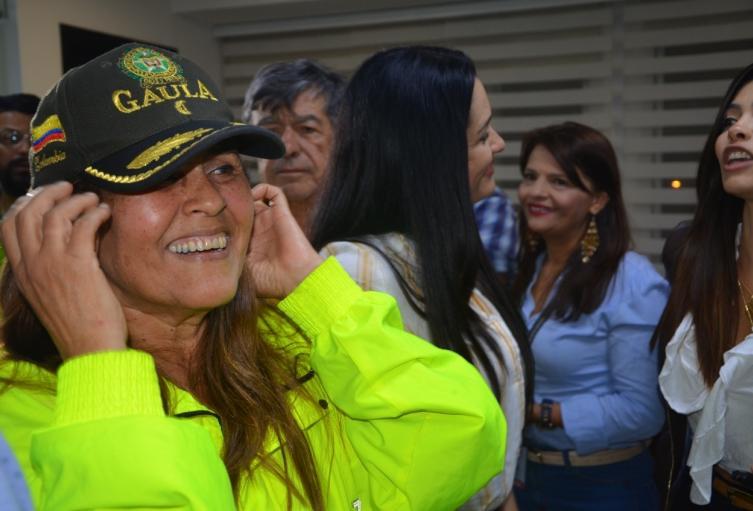 Mujer rescatada en Antioquia.