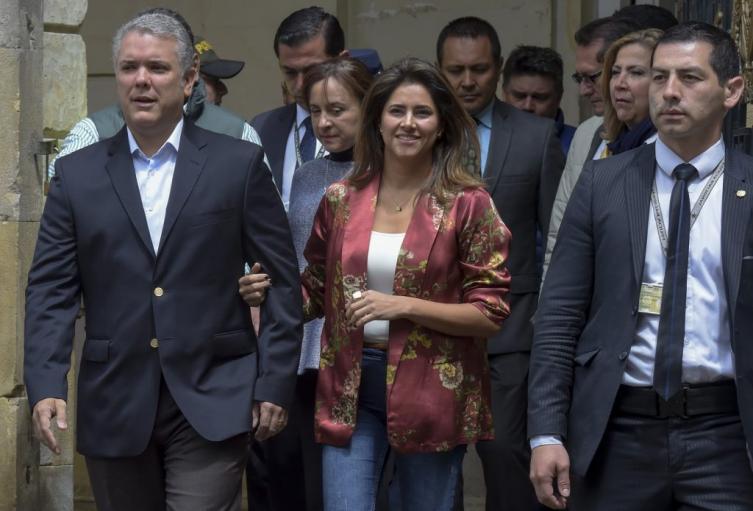 Iván Duque y María Juliana Ruiz en la Consulta Anticorrupción