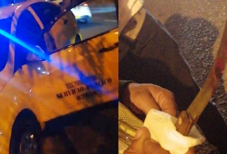Delincuentes venezolanos casi matan a taxista en Medellín por quitarle un celular