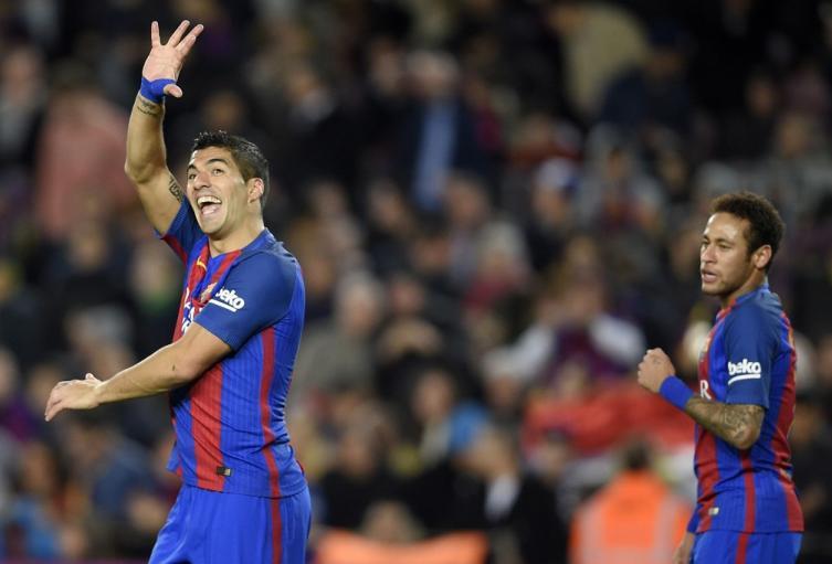 Luis Suárez y Neymar en sus días en el FC Barcelona