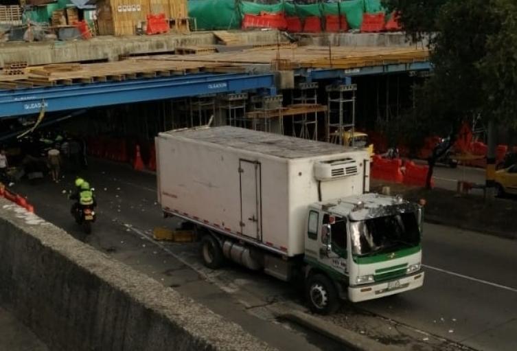 Accidente en el centro de Medellín